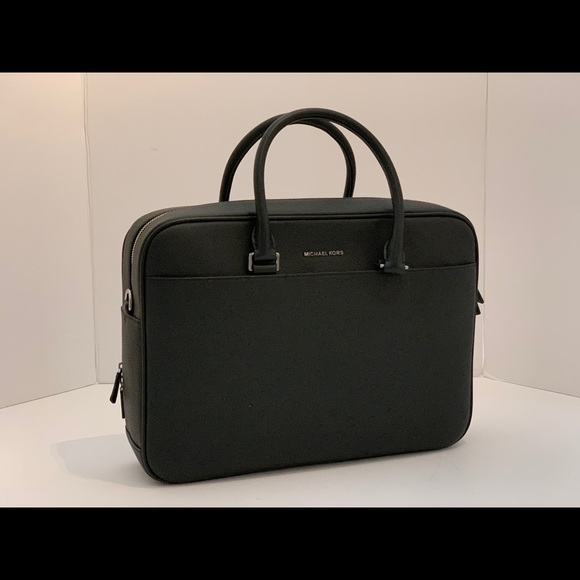 Michael Kors Cooper Black Leather Briefcase Bag